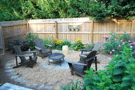 Gravel Fire Pit Area - this u0026 that side yard