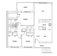 small 4 bedroom floor plans small three bedroom house plan bccrss club