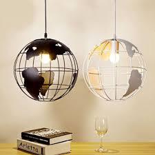 Modern Sphere Chandelier Modern World Map Globe Pendant Chandelier Hanging Lamp Home Office