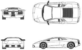 draw lamborghini murcielago car blueprints lamborghini murcielago 40th anniversary deluxe