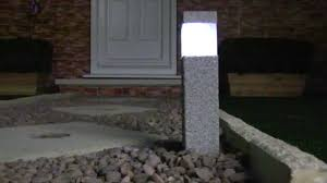 Solar Lamp Post Lights Outdoor by Stone Effect Square Solar Post Lights Youtube