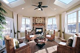 Decorated Sunrooms Sunroom With Fireplace Designs Stunning Ideas Of Bright Sunrooms