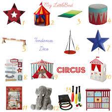 chambre cirque déco chambre d enfant thème circus