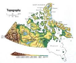 Canada Territories Map by Yukon And Northwest Territories Topographic Map