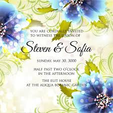 beautiful flowers wedding invitation card vector set 06 welovesolo