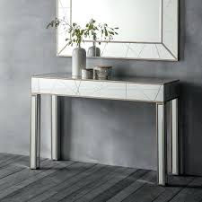 glass mirrored console table long mirrored console table long mirrored console table best of