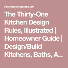 home layout design rules the thirty one kitchen design rules illustrated homeowner guide