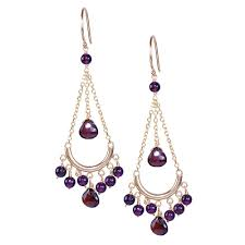 Garnet Chandelier Earrings 14k Yellow Gold Garnet Chandelier Earrings Free Shipping Today