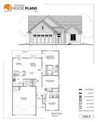 2 Car Garage Sq Ft 1383 R Spokane House Plans