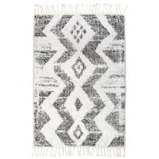 Aztec Style Rugs Moroccan Style Cotton Rug In Monochrome Home U0026 Garden Cuckooland