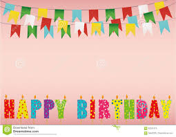 Happy Birthday Flags Colorful Happy Birthday Candles Rainbow Garland Of Flags Letter