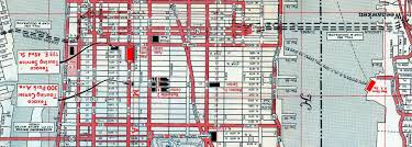 New York City Street Map by Manhattan Street Map 1960s Ephemeral New York