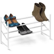 honey can do 2 tier expandable shoe rack white walmart com