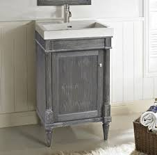 bathrooms design rustic chic vanity silvered oak fairmont