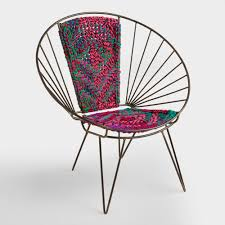 home accents and interior decorating ideas world market metal woven chindi chair