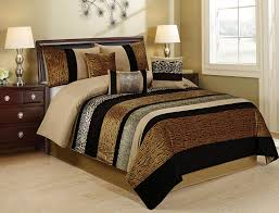 Leopard King Size Comforter Set Amazon Com 7 Piece Sambar Animal Kingdom Safari Comforter Sets