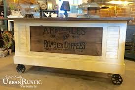 distressed black modern rustic kitchen island cart