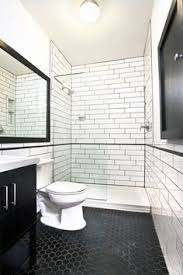 Black Bathroom Floor Tile 58 Best Black And White Bathroom Images On Pinterest Bathroom