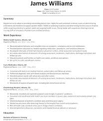 Sample Resume For A Nurse by Registered Nurse Resume Sample Resumelift Com
