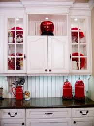 and kitchen design with red accessories outofhome