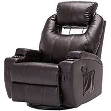 sofa recliner homcom pu leather vibrating sofa chair