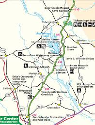 tombigbee waterway map natchez trace points of interest by mile post page 7