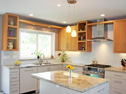 Two Tone Kitchen Cabinet Doors Excellent Two Tone Style Kitchen With Cream Color Wooden Kitchen