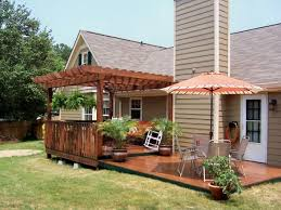 Patio And Deck Ideas After My Dyi Deck And Pergola The First Step To The New Back