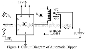 automatic dipper for vehicles u2013 electronics project