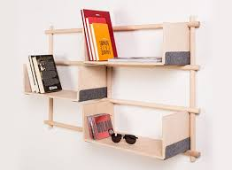 foldin wall mounted modular bookcase u2014 bookcases better living