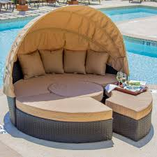 furniture comfortable round wicker outdoor daybed for patio