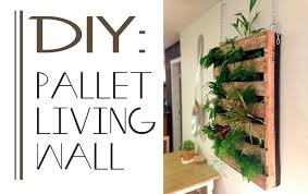 making green the brew diy pallet living wall