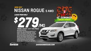nissan rogue sport lease dog days of summer at davidson nissan buy a new nissan rogue