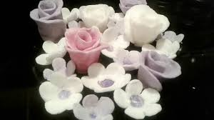 making soap dough flowers with gum paste cookie cutters using