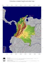 Topographical Map Of South America by Map Colombia Ginkgomaps Continent South America Region Colombia