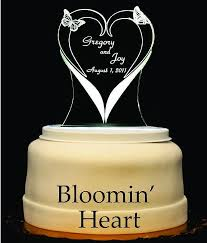 heart wedding cake toppers blooming heart light up wedding cake topper wedding collectibles