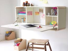 Wall Mount Laptop Desk by White Color Wall Mounted Folding Laptop Desk With Storage For Girls