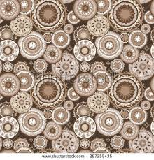 morocco abstract coffee pattern seamless vector stock vector