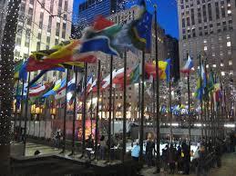 New Yorks Flag Rockefeller Center New York City