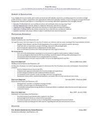 Legal Secretary Duties Resume Cover Letter Legal Resume Objective Legal Secretary Resume