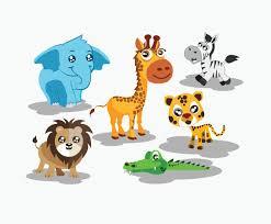 cute cartoon animals vector vector art u0026 graphics freevector com
