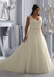 wedding dress size 16 morilee bridal sparkling embroidered lace appliques on tulle plus