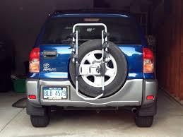 toyota rav4 spare tire thule spare me xtr 2 bike rack on my rav4 2 pics toyota rav4