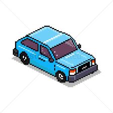 pixel car pixel art car vector image 1959074 stockunlimited