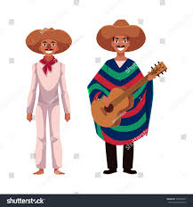 mexican thanksgiving traditions two mexican man traditional national sombrero stock vector