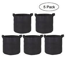 gckg 5 pack 20 gallon planter grow bag nonwovens fabric pots