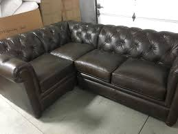 Chesterfield Tufted Leather Sofa Pottery Barn Leather Chesterfield Tufted Pleated Sofa Sectional 3