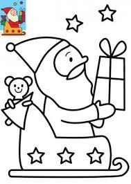 Image de Noël pour enfants  le coloriage du Père Noël et son
