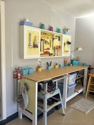 home design diy garage workbench build an organized pegboard tool cabinet and