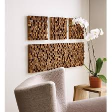 square wood wall decor square takara wall teak wood teak and woods